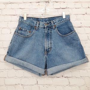 Vintage Lucky Brand Denim Shorts High Rise 29